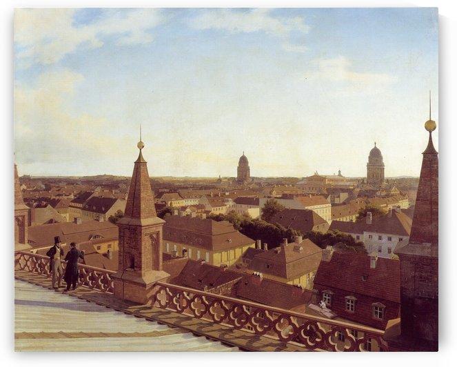 View of 19th century in Berlin by Eduard Gaertner