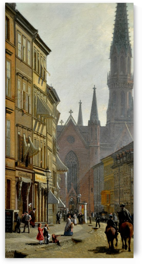 Bruderstrasse, Berlin by Eduard Gaertner