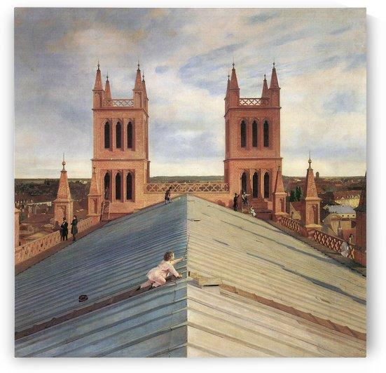 Panorama von Berlin vom Dach der Friedrichswerderschen Kirche aus 2 by Eduard Gaertner