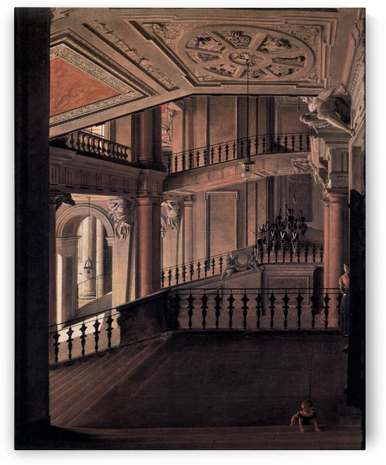 Staircase in the Berlin Palace by Eduard Gaertner