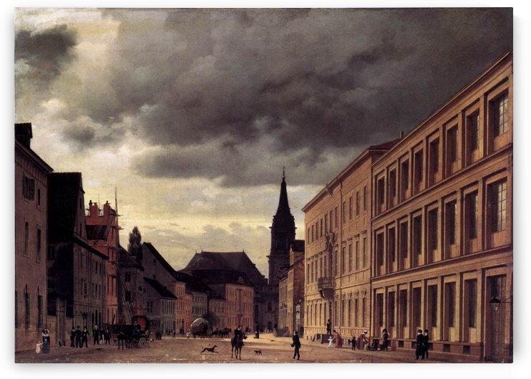 The Parochialstrasse in Berlin by Eduard Gaertner