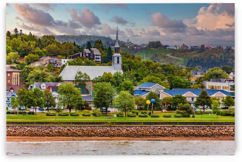 Church on the Coast  in Saguenay by Darryl Brooks