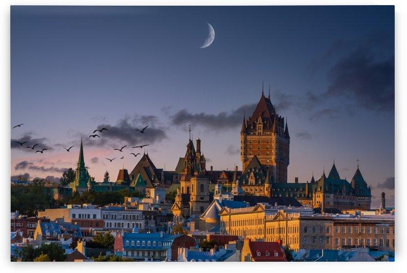 Quebec City in Blue Evening Light by Darryl Brooks