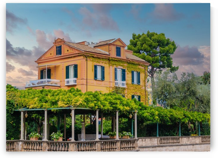 Large Colorful Villa in Sorrento by Darryl Brooks