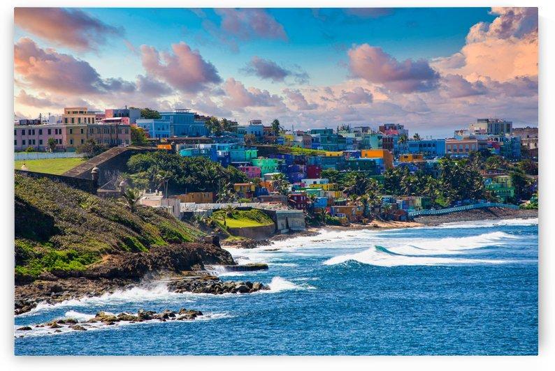 White Surf on Coast of Puerto Rico by Darryl Brooks