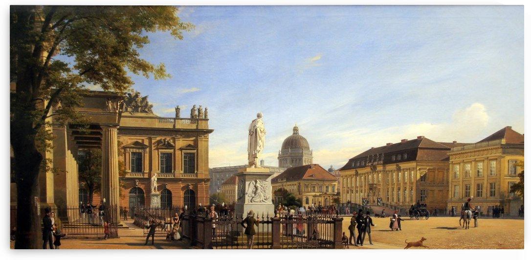 Hamburger Kunsthalle 1326. Neue Wache, Zeughaus, Kronprinzenpalais und Schloss in Berlin by Eduard Gaertner