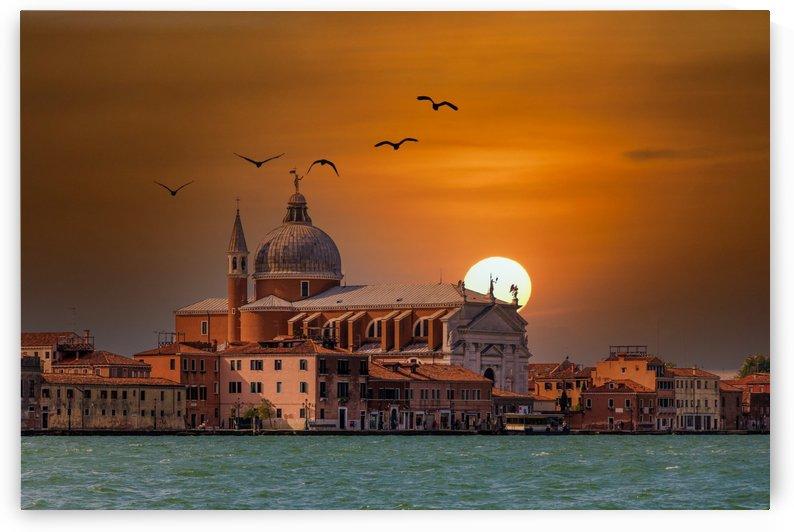 Venice Church at Sunset by Darryl Brooks