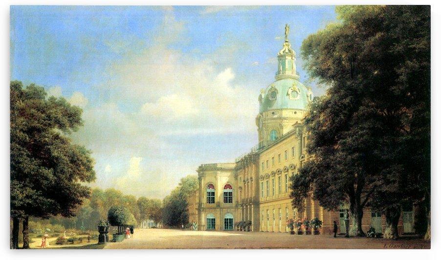 Schloss Charlottenburg. Schloss Charlottenburg von der Gartenseite by Eduard Gaertner