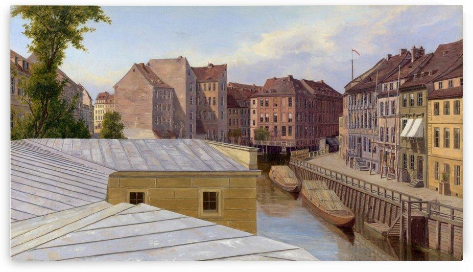 The Friedrichs-gracht, Berlin by Eduard Gaertner