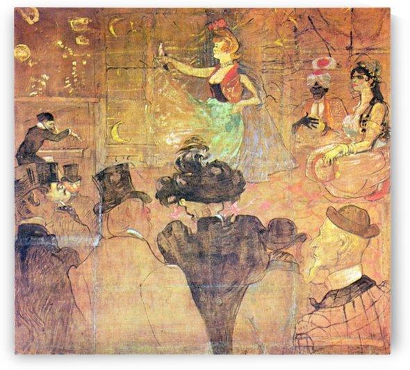 Mauri Dance by Toulouse-Lautrec by Toulouse-Lautrec