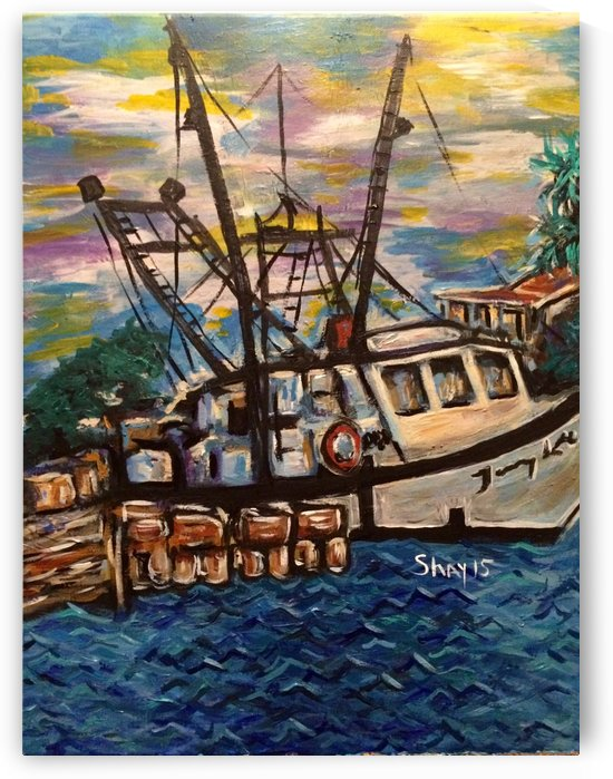 Shrimp boat in Sargent TX by Shay Morrow