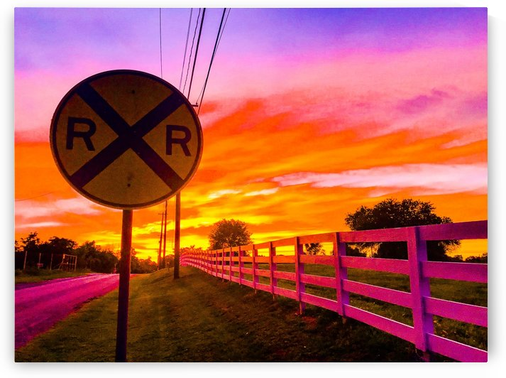 RR Sign in Sunset Bellville TX by Shay Morrow