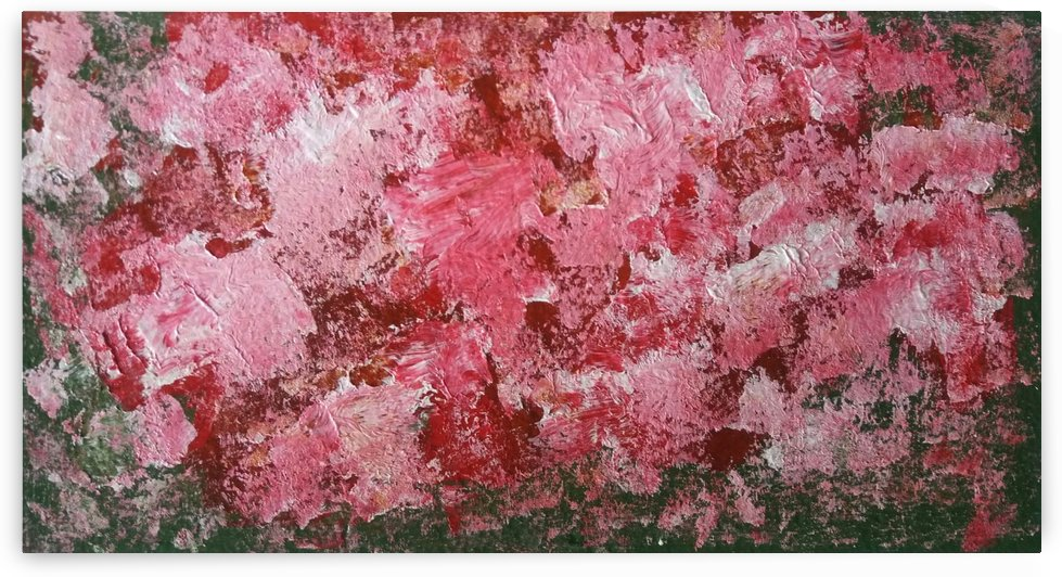 Abstract Acrylic colours of cherry blossom by Princely Ashisha