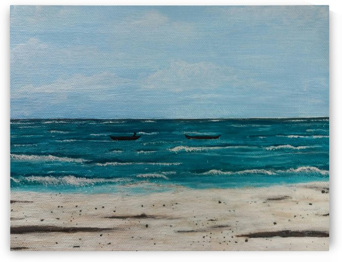Tranquil Sea Acrylic painting by Princely Ashisha