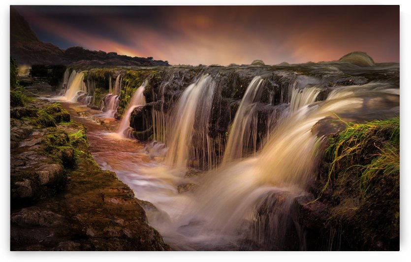 The waterfall and the gully by Leighton Collins