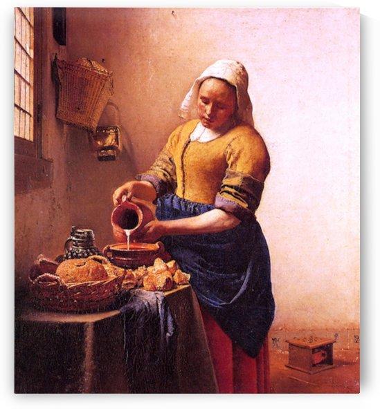 Milk maid by Vermeer by Vermeer