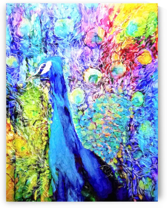 Impasto Peacock by A WYN CHANCE