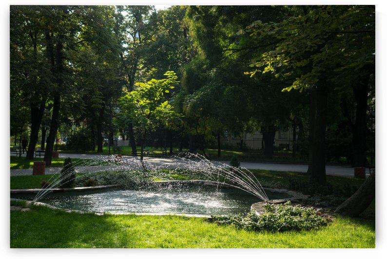 Refreshing Summer - Ebullient Fountain Sparkling in the Sunshine by GeorgiaM