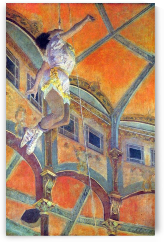 Miss Lala in Circus Fernando by Degas by Degas
