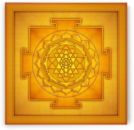 Golden Sri Yantra II by Dirk Czarnota