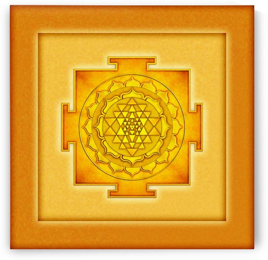 Golden Sri Yantra III by Dirk Czarnota