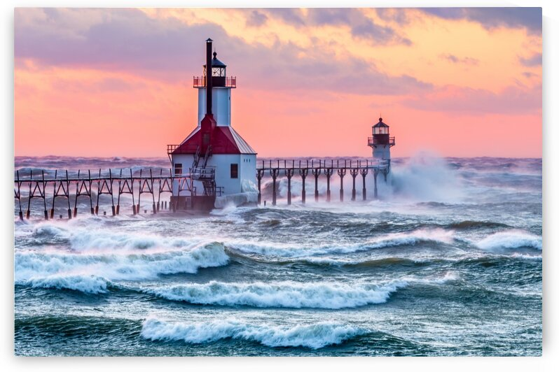 March Winds at St. Joseph Lighthouse by Diane Lynn
