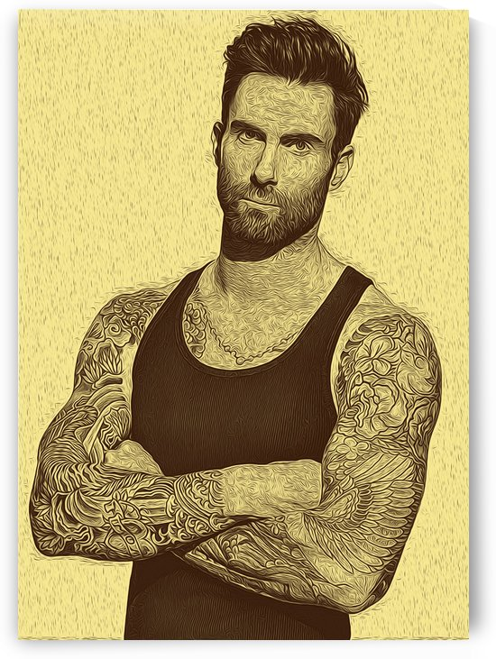 Adam Levine Cool Pose Retro Vintage Collection by RANGGA OZI