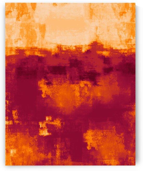 Orange Red Abstract DAP 20016 by Edit Voros