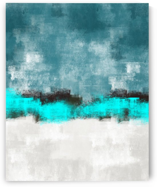 Blue Gray Abstract DAP 20022 by Edit Voros