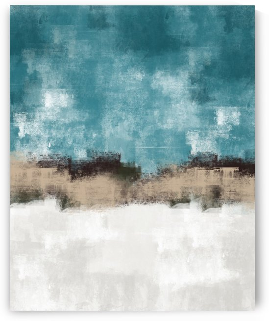 Blue Gray Abstract DAP 20023 by Edit Voros