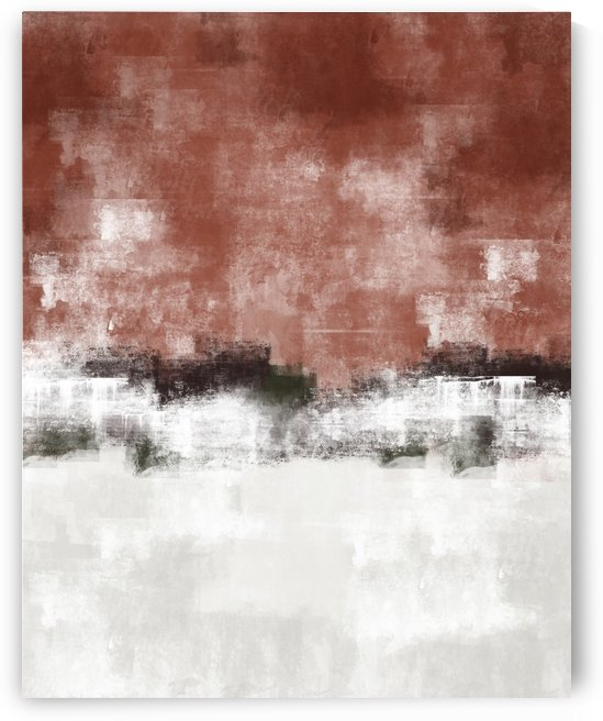 Red Gray Abstract DAP 20026 by Edit Voros