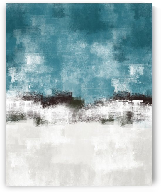 Blue Gray Abstract DAP 20027 by Edit Voros