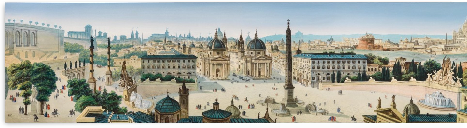 Panorama von Roma by Leopoldo Calvi
