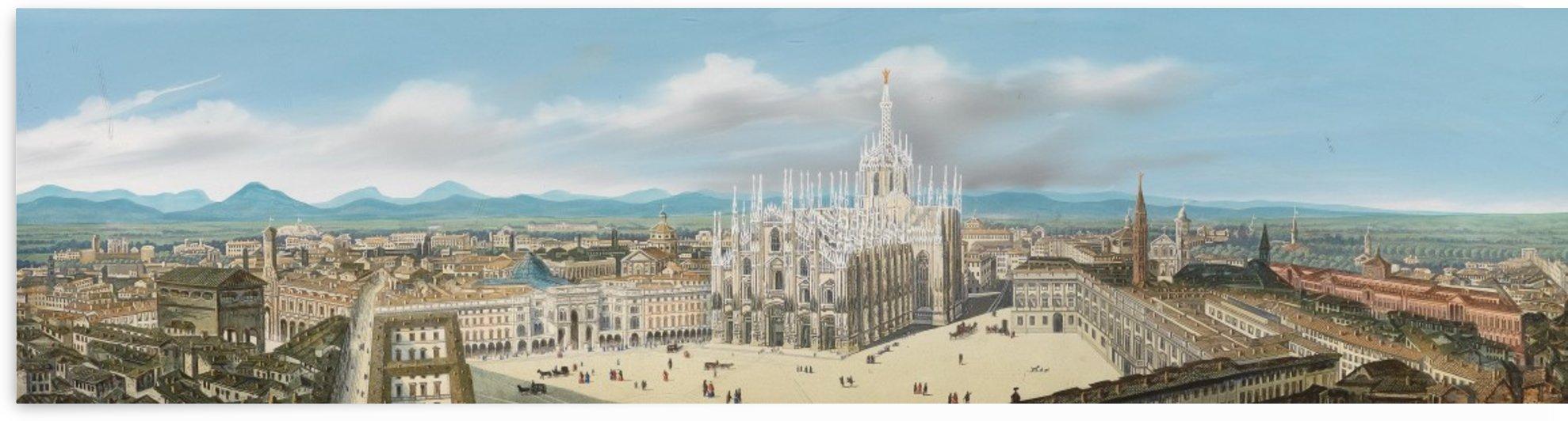 Panorama von Milano by Leopoldo Calvi