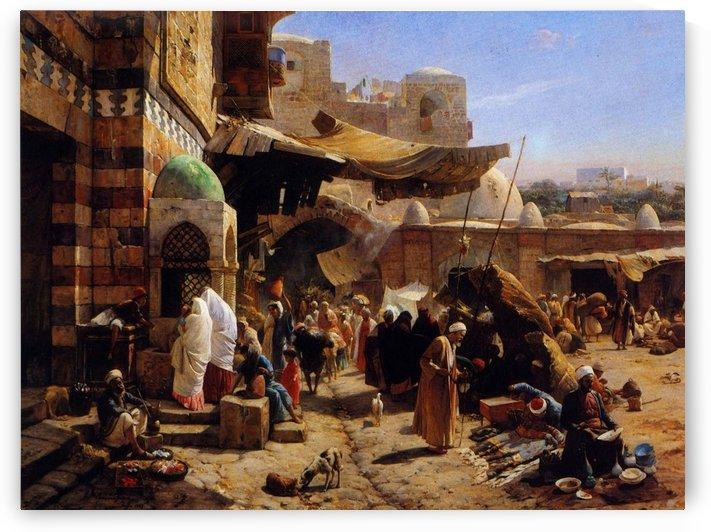 Market in Jaffa by Gustav Bauernfeind