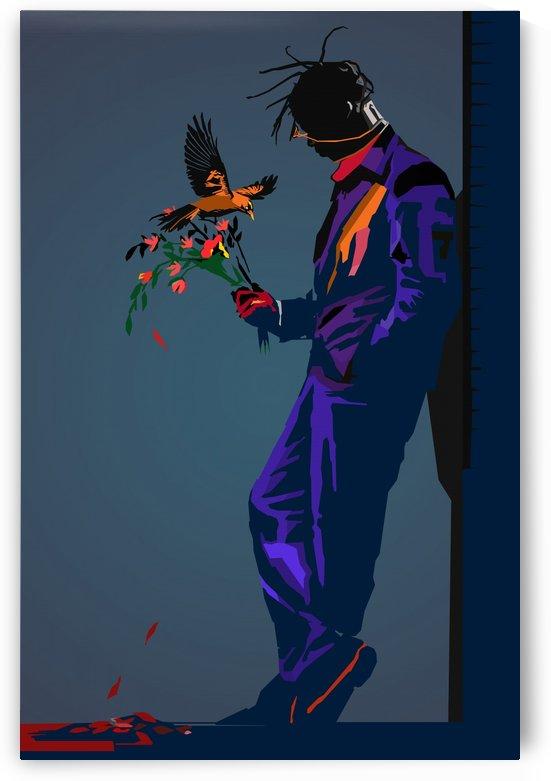 Banksy Flower Travis Scott  by Long Art