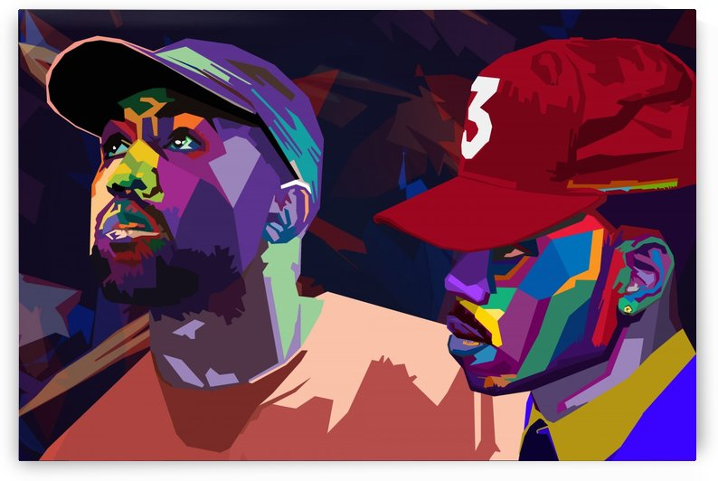 Chance the Rapper and Kanye West by Long Art