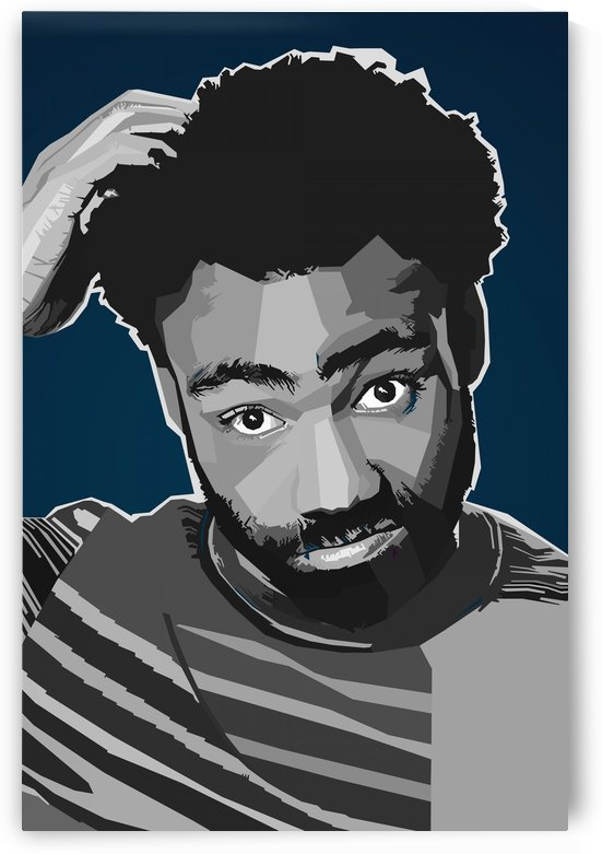 Childish Gambino Rapper Black by Long Art