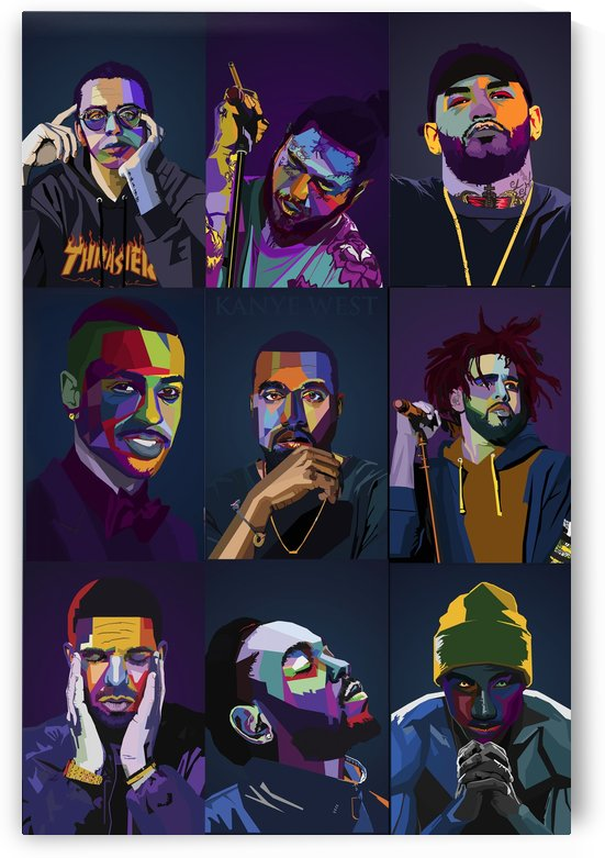 Rapper Collage by Long Art