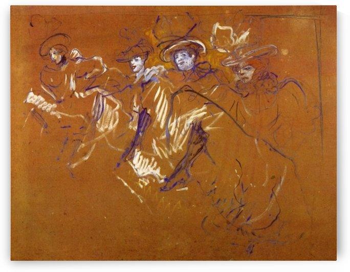 Mlles Eglantines by Toulouse-Lautrec by Toulouse-Lautrec