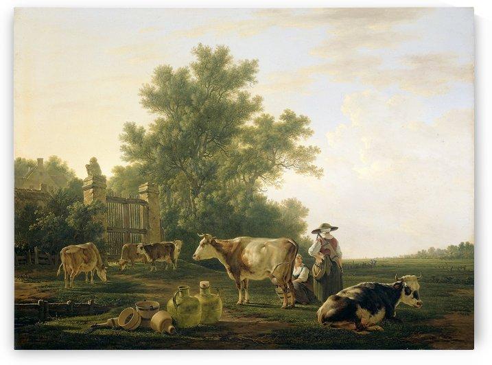 Milking Time by Abraham van Strij