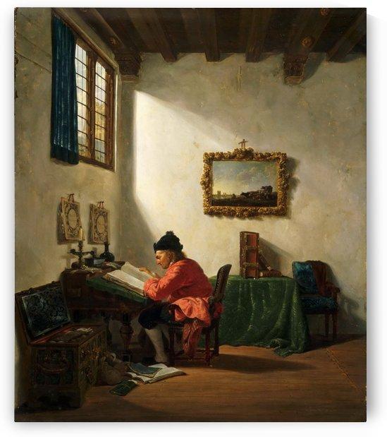 Man at a Desk by Abraham van Strij