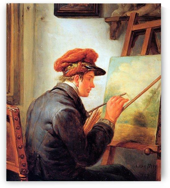 The artist son by Abraham van Strij