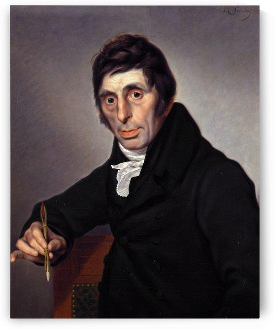 Portrait of painter by Abraham van Strij
