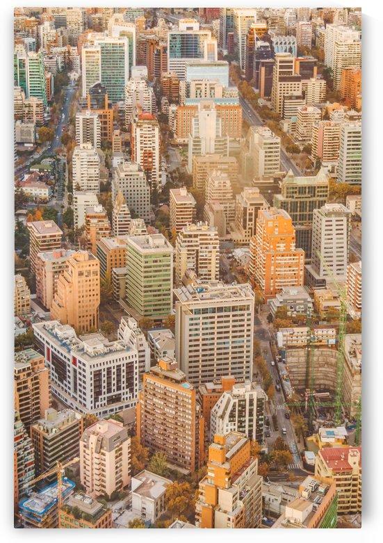 Santiago de Chile Cityscape Aerial View by Daniel Ferreia Leites Ciccarino