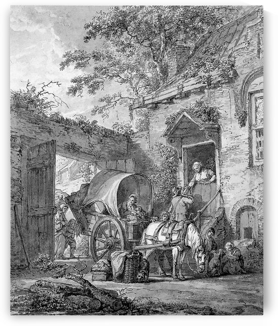Stop for an Inn by Abraham van Strij