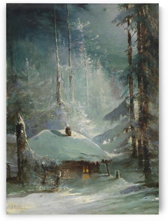 Winter landscape by Abraham van Strij