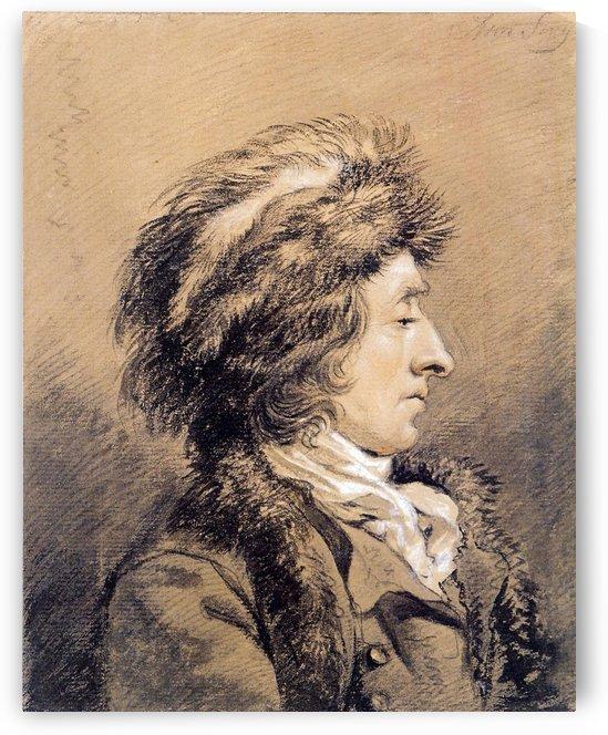 Man with fur hat by Abraham van Strij
