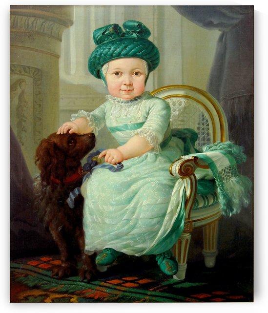 Portret van een onbekend kind by Abraham van Strij
