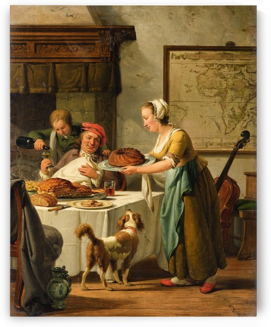 The Gourmet by Abraham van Strij
